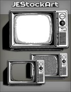 JEStockArt - Modern - Vintage Television With Knobs And Dials - INB