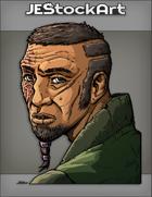 JEStockArt - Fantasy - Bearded Man With Beads And Scars Portrait - CNB