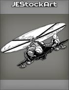 JEStockArt - SciFi - Dark Future Helicopter with Hind Design - INB