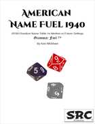 American Name Fuel 1940