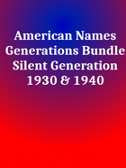 American Names Silent [BUNDLE]