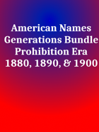 American Names Prohibition Era [BUNDLE]