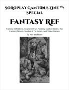 SoRoPlay GamTools Zine: Fantasy Ref