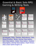 Essential and Basic Solo RPG Gaming and Writing Tools [BUNDLE]
