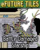 e-Future Tiles: Battle Damaged Starship