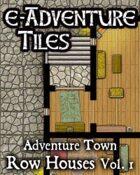 e-Adventure Tiles: Adventure Town - Row Houses Vol. 1