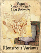 Pages from the Lost Grimoire - Monstrous Variants / Stage Rite