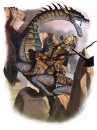 Character - Dragon Hunter on Behir Mount - RPG Stock Art
