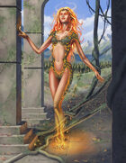 Cover full page - Fire Spirit/Elemental - RPG Stock Art