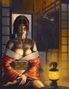 Cover full page - Ninja Ready to Strike - RPG Stock Art