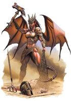 Character - Demon Gladiator - RPG Stock Art
