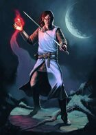 Cover full page - Moon Elf - RPG Stock Art