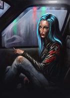 Cover full page - Blue haired girl - RPG Stock Art