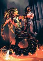 Cover full page - Elemental Medusa - RPG Stock Art