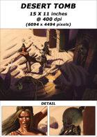 Cover full page - Desert Tomb - RPG Stock Art