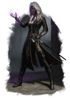 Character - Dark Elf Warlock - RPG Stock Art