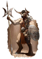 Character - Minotaur - RPG Stock Art