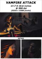 Cover full page - Vampire Attack - RPG Stock Art
