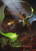 Cover full page - Tattooed Sorcerer Battle - RPG Stock Art