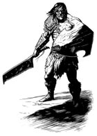 Character ink - orc warrior - RPG Stock Art