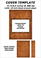 Cover template - Light Brown Leather (landscape image) - RPG Stock Art