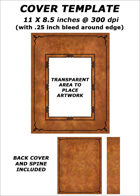 Cover template - Light Brown Leather (portrait image) - RPG Stock Art