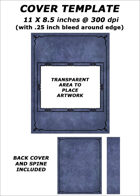 Cover template - Blue Leather (landscape image) - RPG Stock Art