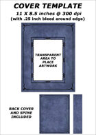 Cover template - Blue Leather (portrait image) - RPG Stock Art