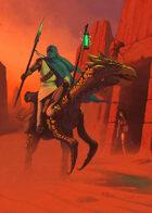 Cover full page - Desert Rider with Girl - RPG Stock Art