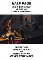 Half page - Vampire Attack - RPG Stock Art