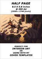 Half page - Desert Tomb - RPG Stock Art