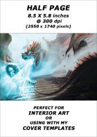 Half page - Dragons Breath - RPG Stock Art
