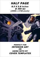 Half page - Alien Ship - RPG Stock Art