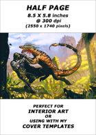 Half page - Forgotten Danger - RPG Stock Art