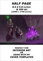 Half page - Cavern Explorers - RPG Stock Art