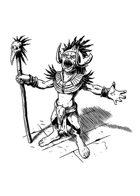 Filler spot - character: goblin shaman - RPG Stock Art
