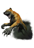 Filler spot colour - creature: flesh ripper - RPG Stock Art