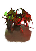 Filler spot colour - character: demon knight - RPG Stock Art