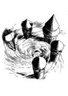 Filler spot - environment: submerged towers - RPG Stock Art
