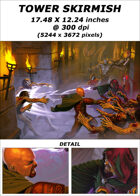 Cover full page - Tower Skirmish - RPG Stock Art
