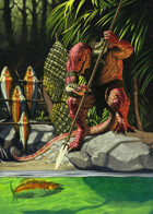 Cover full page - Saurian Fishing - RPG Stock Art