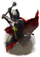 Character - Knight with 2 handed mace - RPG Stock Art