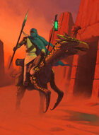 Quarter page - Desert Rider without Girl - RPG Stock Art