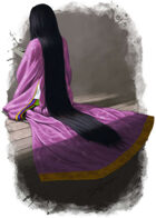 Character - Japanese woman writing - RPG Stock Art