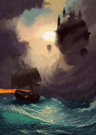 Cover full page - Trouble at Sea: Citadel & Ship - RPG Stock Art