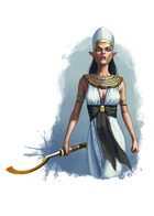 Filler spot colour - character: elf in egyptian clothing - RPG Stock Art