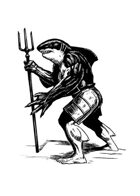 Filler spot - character: wereshark warrior - RPG Stock Art