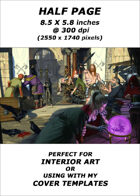 Half page - Street Market - RPG Stock Art