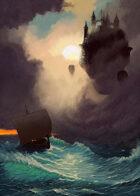 Cover full page - Trouble at Sea: Citadel & Drakkar - RPG Stock Art