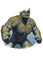 Filler spot colour - character: humanoid rhino - RPG Stock Art